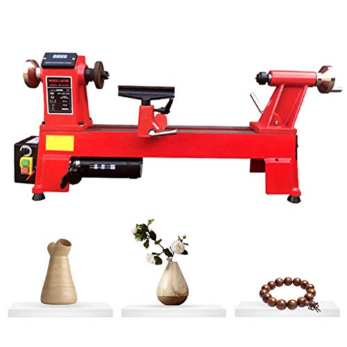 Affordable Wood Working Lathe Variable Speed 550W Mini Wood Lathe with Turning Tools for DIY Buddha ...