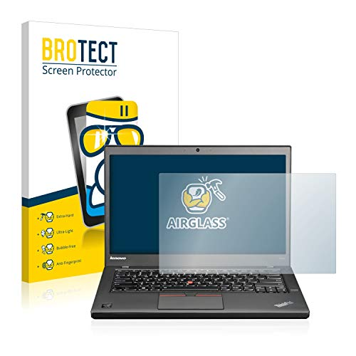BROTECT Panzerglas Schutzfolie kompatibel mit Lenovo ThinkPad T450s Non-Touch - AirGlass, extrem Kratzfest, Anti-Fingerprint, Ultra-transparent