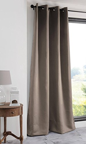 Lovely Casa R61840003 Notte Rideau occultant Polyester Lin 250 x 135 cm