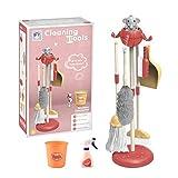 Kinderbesen Set, Kinder Handfeger Kehrblech Kinderkehrschaufel Kinder Besen Mop Besenbürste Kinder Reinigung Spielzeug