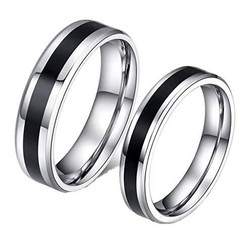 Titanium steel ring Love shape Couple ring CR-012,Silver,Male8#,Size:Male11#,Colour:Silver Bracelets Earrings Rings Necklaces (Color : Silver, Size : Male13#)