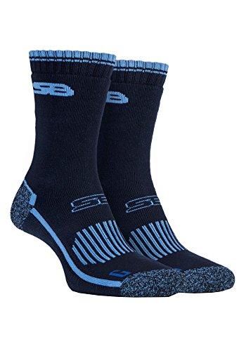 Storm Bloc - 2 pares trekking algodon calcetines reforzados
