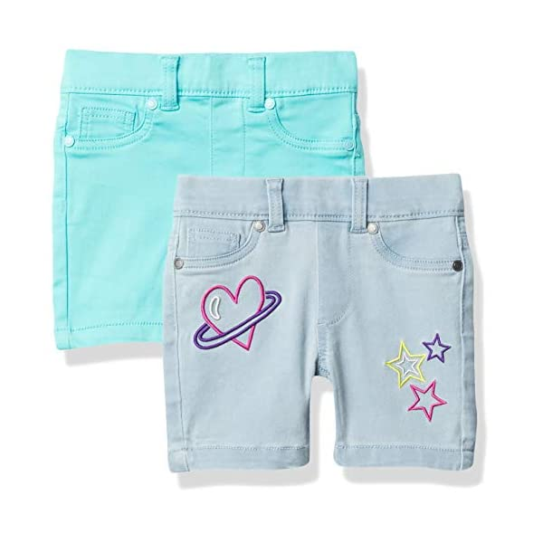 Amazon Brand – Spotted Zebra Girls' Stretch Denim Bermuda Shorts