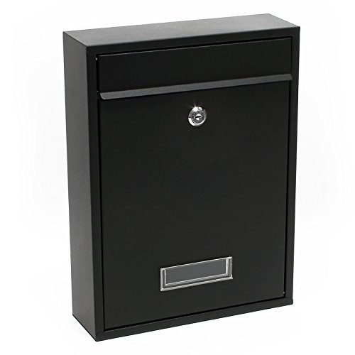 Briefkasten Wandbriefkasten Briefkastenanlage Schwarz pulverbeschichtet V1