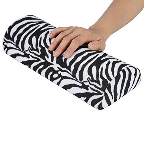 Fournitures Nail Art Grand 5 PCS Souple Silences Lavable à la Main Coussin Main Porte-éponge Oreiller Accoudoirs Nail Art Manucure Coussin Oreiller Main (Violet) (Couleur : Zebra Pattern)