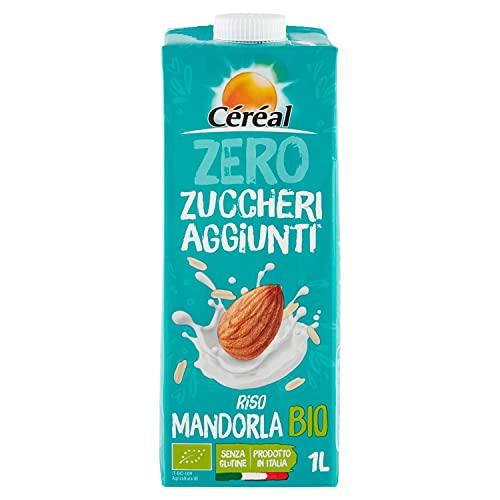 Céréal Riso e mandorla Bio, bevanda vegetale con latte di riso e latte di mandorla, senza zuccheri aggiunti - 1 L
