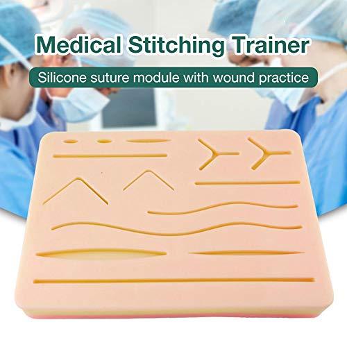 Chirurgisches Nahtset - Ein umfassendes Nahtpad aus Silikon mit vorgeschnittenen Wunden für medizinisches Training
