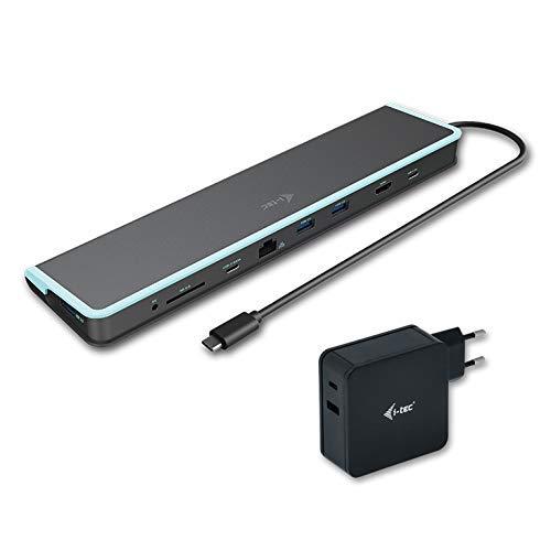 i-tec USB-C 4K docking station met universele oplader 1x HDMI 1x SD-kaartlezer 1x Gigabit Ethernet 3x USB 3.0 1x USB-C 1x USB-C PD 60W Thunderbolt 3 compatibel met 30cm kabel