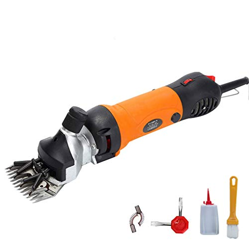 GEMGO Electric Sheep Hair Shears Goat Clippers, Animal Shave Grooming Clipper, Farm Pet Supplies Livestock Fur Shears Cutter, 690W (690W, Orange-Upgraded)