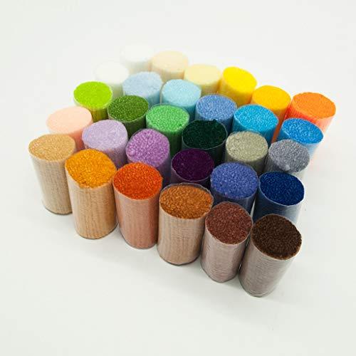 30 colores pestillo pre corte hilo de lana conjunto para tapiz anudado fabricación de alfombras