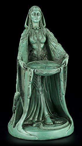 Danu Figur - Keltische Mutter Göttin - Grün Wicca Deko Magie