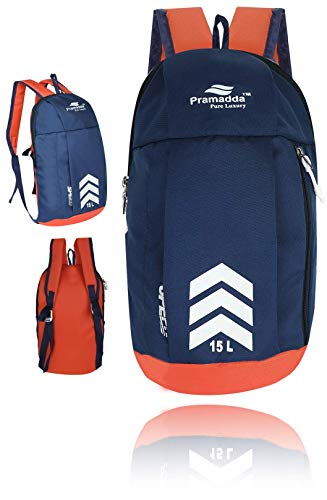 Pramadda Pure Luxury Medium Size 15L Mini Backpack Casual Red Gym Sports Bag Daily use Backpacks Small Travel Bag. (16'x 9'x 6' inch)