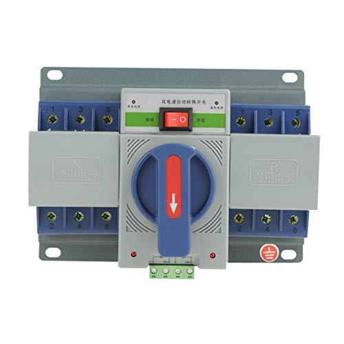 Interruptor de Transferencia - 1pc 220V 63A 3P Mini Interruptor automático Inteligente de Doble Potencia Interruptor de Transferencia automático