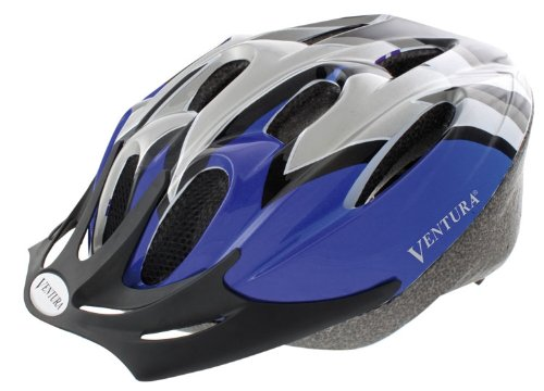 Ventura Fahrradhelm Blue Reflex, blue/silver/black, L