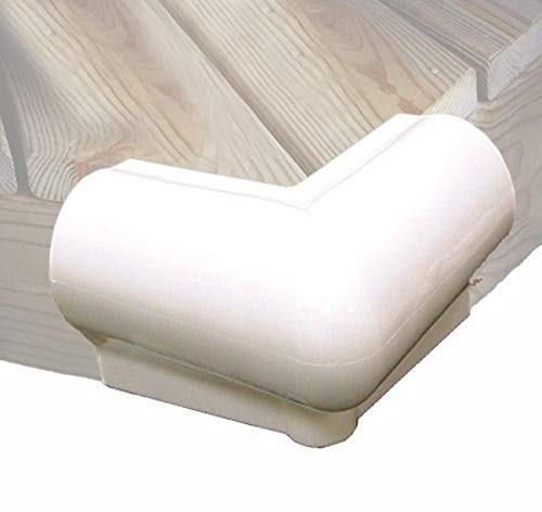 """Taylor Made Products 90 Degree Vinyl Dock Corner Bumper (White) , 6"""" x 6"""""""
