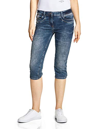 CECIL Damen 372219 Charlize Slim Jeans per pack Blau (Authentic used wash 10279), W33 (Herstellergröße:33)