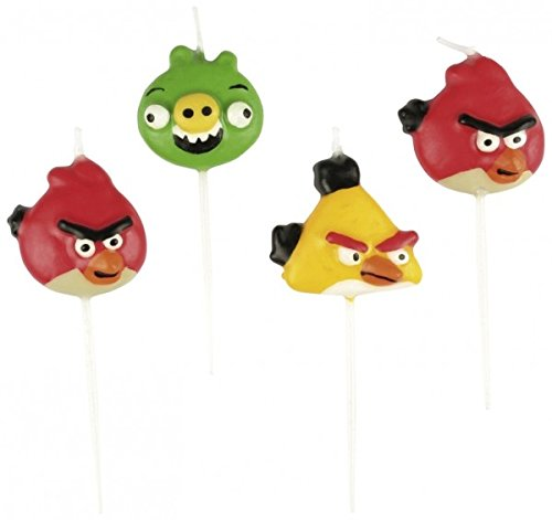The Party Book Mini bougies ornées de figurines Angry Birds