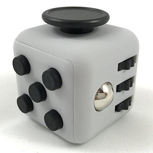 Fidget Cube von m2medien - Anti-Stress-Würfel (Grau)