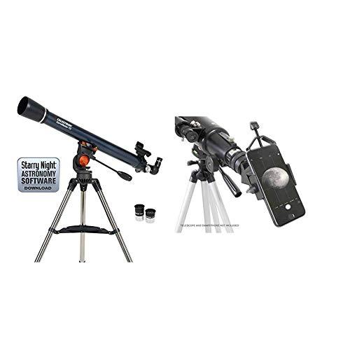 Lowest Prices! Celestron - AstroMaster 70AZ Telescope - Refractor Telescope - Adjustable Height Trip...