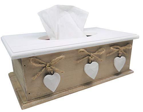 khevga Kosmetiktücher-Box Tissue-Box (Braun)