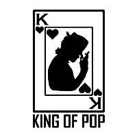 カーステッカー ポーカーステッカーウィンドウ装飾的性格PVCステッカー17cm * 10cm (Color : Black)