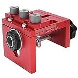 Posicionador de Perforación para Taladro, Posicionador de Perforación para Carpintería, Aleación de Aluminio 3 en 1 Localizador de Guía de Perforación para Carpintería