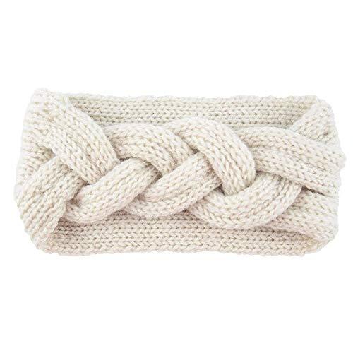 NXYJD Womens Winter Knitted Headband - Suave Crochet Bow Twist Banda for el Pelo Turbante Headwrap Sombrero Sombrero Oreja más cálido (Color : D)