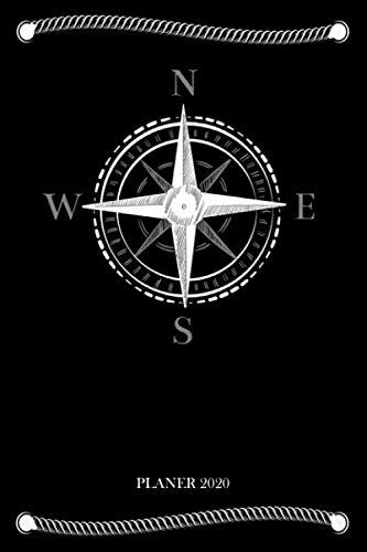 Planer 2020: Taschenkalender 2020 Windrose Kompass  Wochenplaner & Terminkalender   Für Kapitäne, Segler & Skipper   Kalender mit Jahres-, Monats- und ... planen & organisieren   Format ca. A5  
