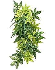 Sztuczne rośliny wiszące gady roślina wspinaczka symulacja liście bambusa dla brodatych smoków jaszczurki terrarium dekoracja 30 cm (styl 1)
