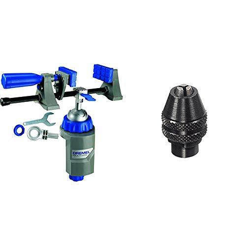 Dremel 2500 Multi Vise - Multi Schraubstock & 4486 Bohrfutter - Zubehörsatz für Multifunktionswerkzeug mit 1 Bohrfutter zum effizienten Zubehörwechsel von Zubehör ohne Spannzangen