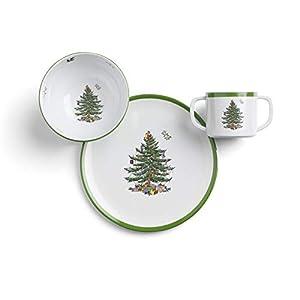 Spode Christmas Tree Melamine Children's 3 Piece Set