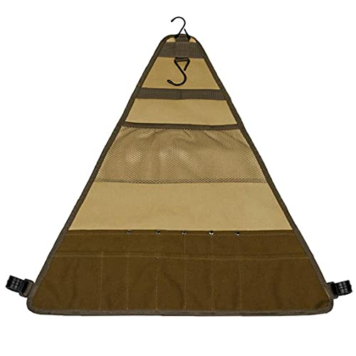 Camping Vajilla Bolsa de almacenamiento BBQ Cutlery Portable Pouch Organizador para viajes al aire libre Camping Picnic Fiesties, BBQ Herramienta de barbacoa