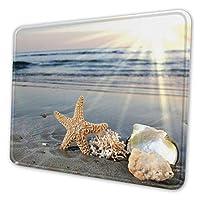 ビーチの貝殻 マウスパッド 18 X 22cm 滑り止め 防水 おしゃれ 洗える ビジネス用 家庭用 ゲーム用