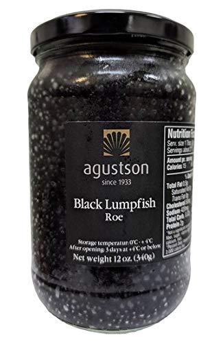 Agustson Black Lumpfish Caviar Roe, 12 Ounce