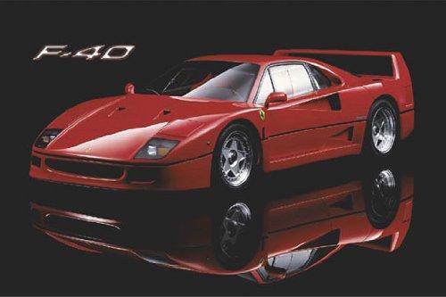 Posters du Monde Póster de Ferrari F-40 en papel con diseño de coche deportivo en H, 91,5 x 61 cm