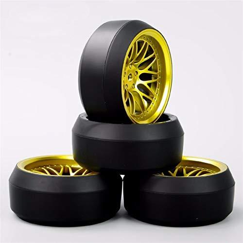 Conveniente neumático de coche Rc, 4pcs / set 1/10 Neumáticos Escala RC Drift y llantas con 6 mm y 12 mm Desplazamiento Hex ajuste del modelo del coche Juguetes accesorios para modelo de coche