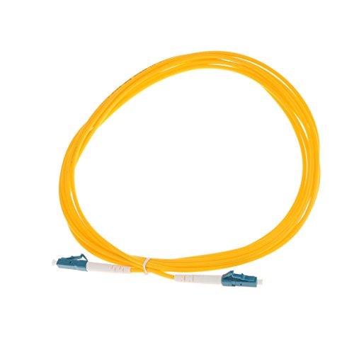 B Blesiya LC a LC Monomodo de Un Núcleo Cable de Conexión de Fibra óptica Línea 3 Metros - Amarillo-3m