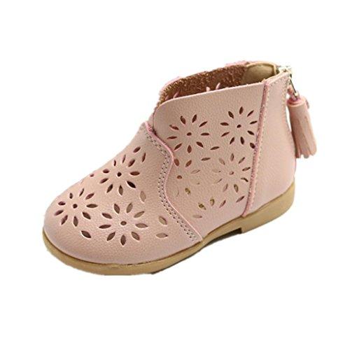 IMJONO Chaussures Fille, des Gamins Filles Été Sandales Enfants Mode Gros Fleur Appartement Princesse Chaussures (1 Ans, Rose)