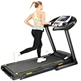 CAROMA Treadmill for Home, 3.0 HP Folding Treadmill with Incline, 300 lb Capacity Walking Running Exercise Machine with Smart Shock-Absorbing System, 9.0 MPH,12 Programs, Tracking Pulse, Calories
