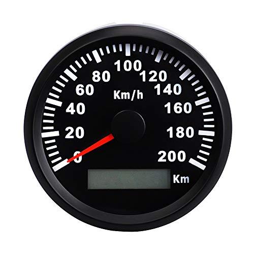 Dhmm123 Digital Auto Digital GPS Tacho 200 km/h mit Hintergrundbeleuchtung rote Geschwindigkeitsmesser for Auto Boot IP67 wasserdicht Spezifisch