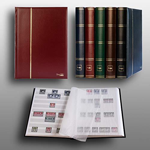 Prophila Collection Album pour Timbres, 60 Pages, intérieur Blanc (couv. Rouge)