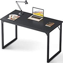 Computer Desk Coleshome Desk Computer Table Home Office Desk: Metal legs and adjustable leg pads, made the desks keep stable even on uneven floor Modern Design with Stability: A sturdy desk designed in elegance.Thick metal frames & Extra metal bracke...