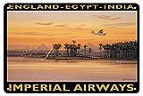 Snowae England Ägypten Metall Poster Wand rostfrei