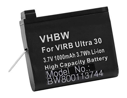 vhbw Akku passend für Garmin Virb Ultra 30, HD Action Cam Videokamera Camcorder (1000mAh, 3,7V, Li-Ion)