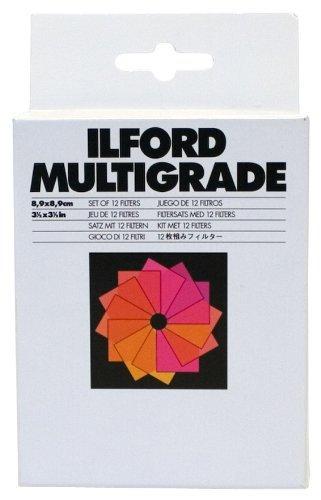 Ilford Juego de 12 filtros (8.9 x 8.9) sin Montura