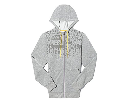 adidas Messi Full Zip Hooded Sweat Jacket Grey (L)