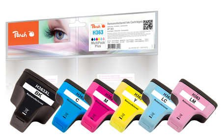 Peach Combi Pack Compatible with HP No. 363