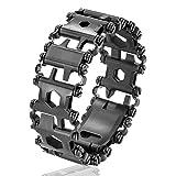 マルチツール-ブレスレット 携帯工具-ドライバー-レンチ サバイバルグッズ (ブラック)