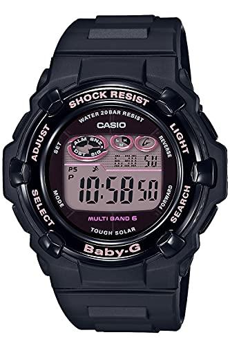 [カシオ] 腕時計 ベビージー 電波ソーラー スーパーイルミネータータイプ(高輝度なLEDライト) BGR-3000UCB-1JF レディース ブラック