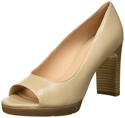 Geox D Annya High Sandal D, Zapatos con Tacón y Punta Abierta para Mujer, Beige (Beige C5000), 37 EU